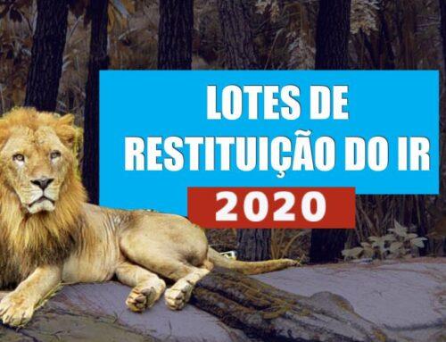 Lotes de Restituição do IR 2020