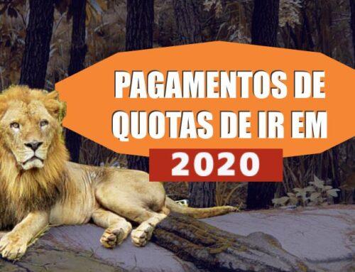 PAGAMENTOS DE QUOTAS DE IR EM 2020